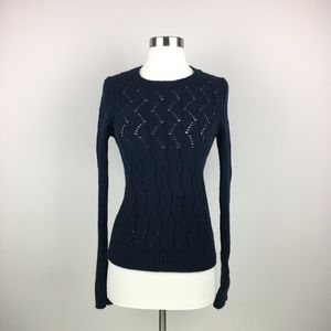 LOFT Dark Blue Pullover Sweater Size Small